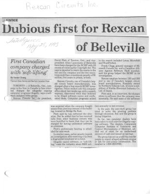 Dubious first for Rexcan on Belleville