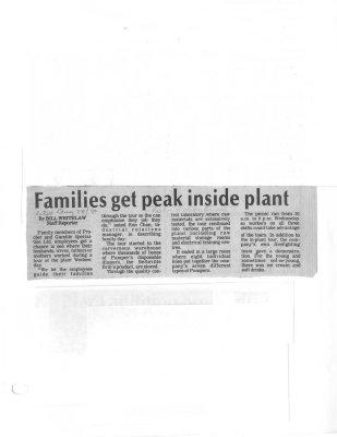 Families get peak inside plant