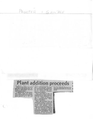 Plant addition proceeds