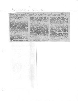 Procter and Gamble denies satanism link
