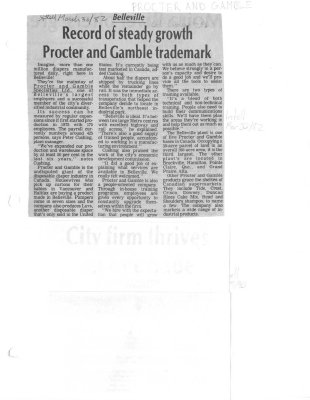 Record of steady growth Procter and Gamble trademark