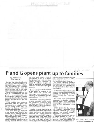 P and G opens plant up to families