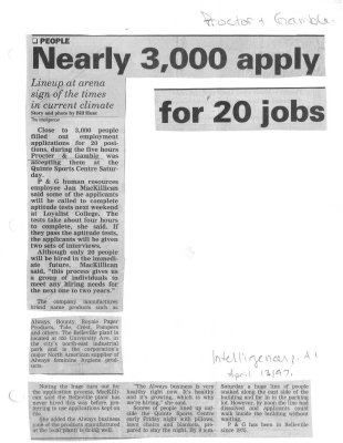 Nearly 3000 apply for 20 jobs