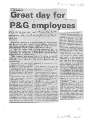 Great day for P&G employees