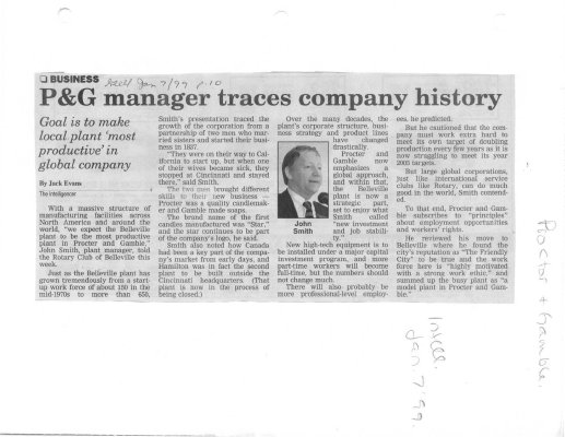 P&G manager traces company history