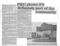 P & G shows it's definitely part of the community