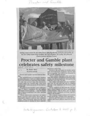 Procter and Gamble plant celebrates safety milestone