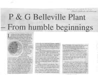 P & G Belleville Plant -- From humble beginnings