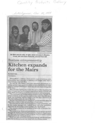 Kitchen expands for the Mairs