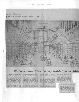 Walkers Store Was Family Institution in 1870s