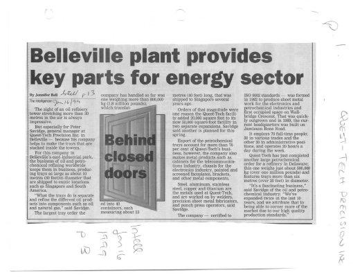 Belleville plant provides key parts for energy sector