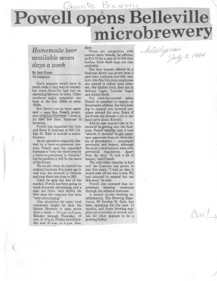 Powell opens Belleville microbrewery