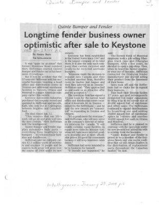 Longtime fender business owner optimistic after sale to Keystone
