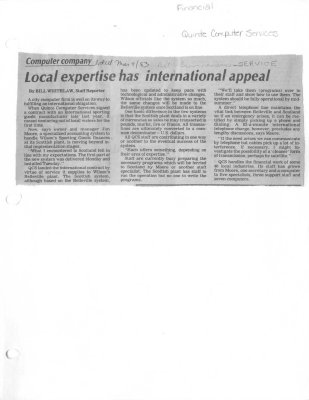 Local expertise has international appeal