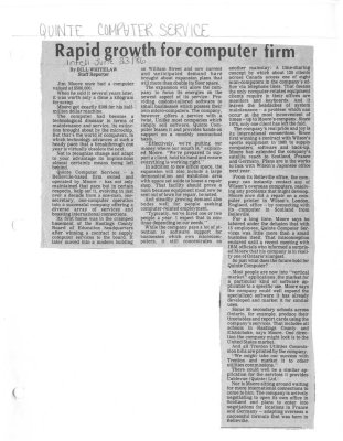 Rapid growth for computer firm
