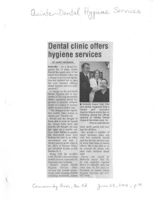 Dental clinic offers hygiene services