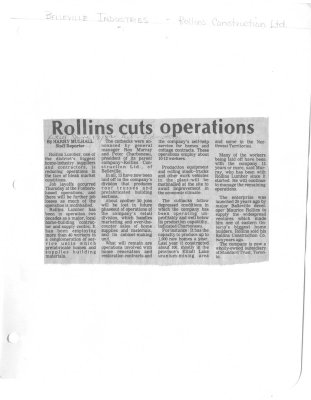 Rollins cuts operation