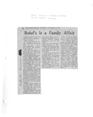 Roluf's Is a Family Affair