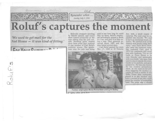 Roluf's captures the moment for shutterbugs since 1948