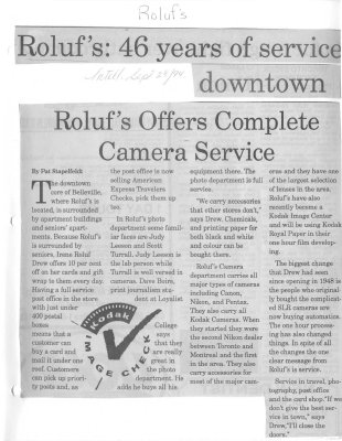 Roluf's: 46 years of service downtown