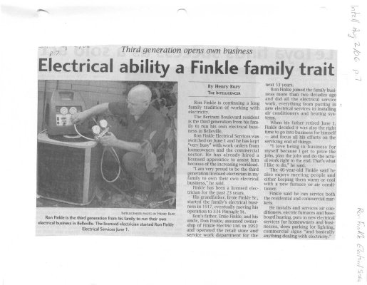 Electrical ability a Finkle family trait