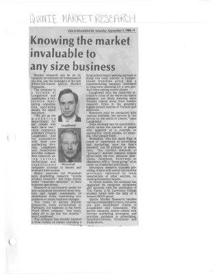Knowing the market invaluable to any size business