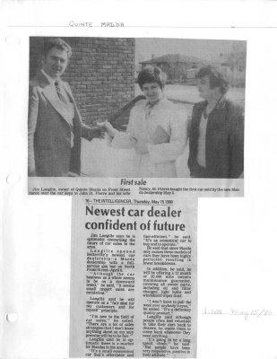 Newest car dealer confident of future