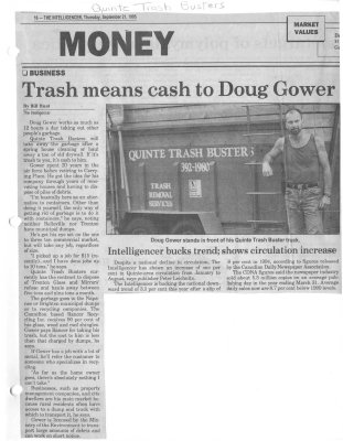Trash means cash to Doug Gower