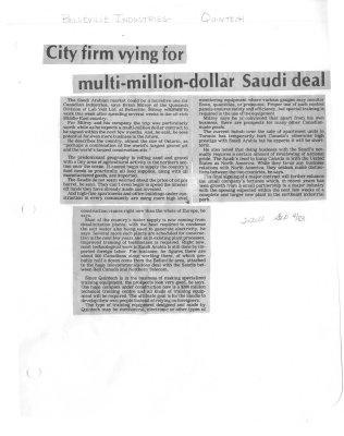 City firm vying for multi-million-dollar Saudi deal