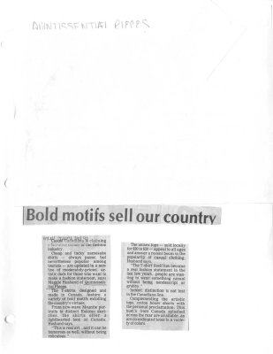 Bold motifs sell our country