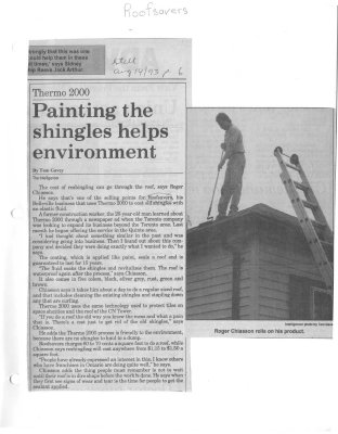 Painting the shingles helps environment