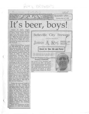 It's beer, boys!