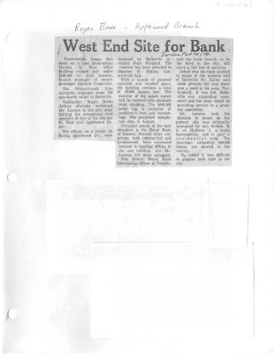 West End Site for Bank