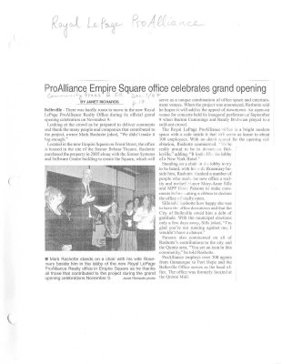 ProAlliance Empire Square office celebrates grand opening