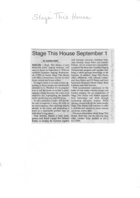 Stage This House September 1