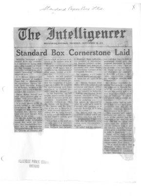Standard Box Cornerstone Laid