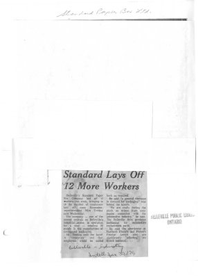Standard Lays Off 12 More Workers