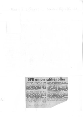 SPB union ratifies offer