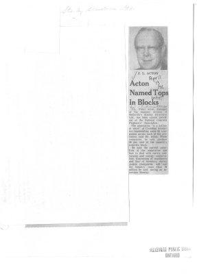 Acton Named Tops in Blocks