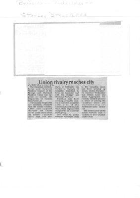 Union rivalry reaches city