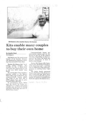Kits enable many couples to buy their own home