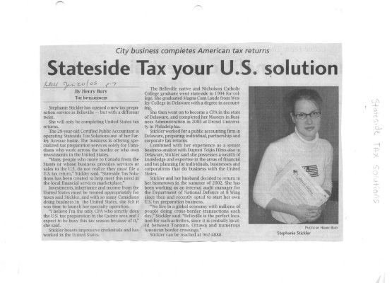 Stateside Tax your U.S. Solution