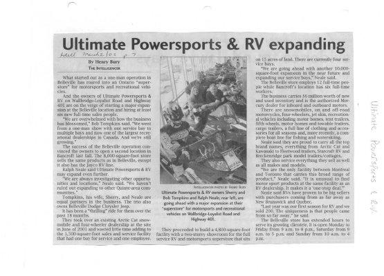 Ultimate Powersports & RV expanding