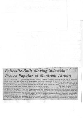Belleville-Built Moving Sidewalk Proves Popular at Montreal Airport