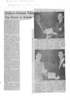 Stephens-Adamson Takes Top Honors in Awards
