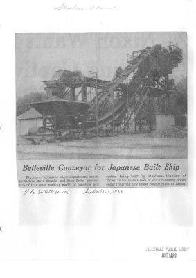 Belleville Conveyor for Japanese Built Ship