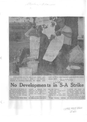 No Developments in S-A Strike