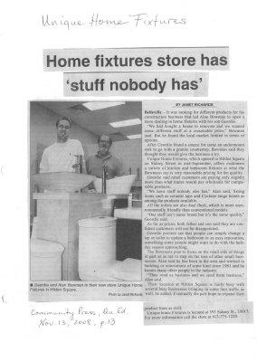 Home fixtures store has 'stuff nobody has'
