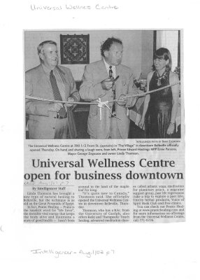 Universal Wellness Centre open for business downtown