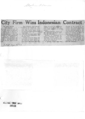 City Firm Wins Indonesian Contract